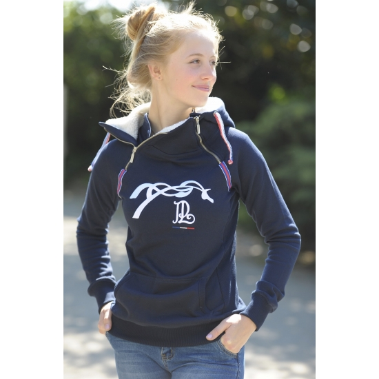 "Sweat double zip ""Amazing Lifestyle"" Marine"
