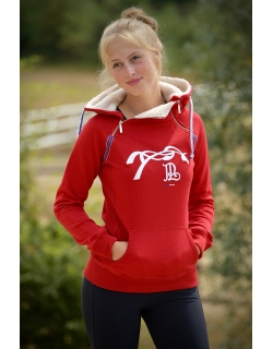Double Zip Sweater - Red