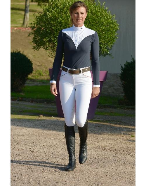 chemise de concours bleue marine las vegas Pénélope Leprevost
