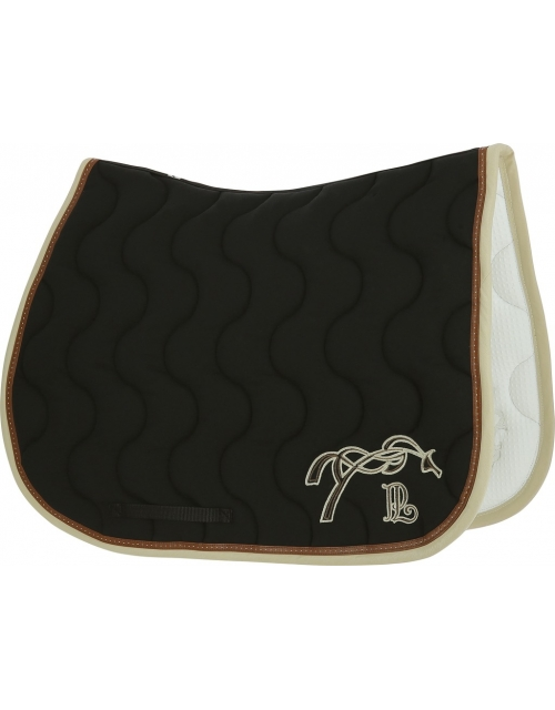 Point Sellier Classic Saddle pad - Black & cream