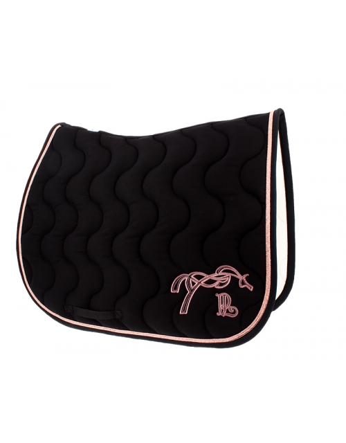 Classic Saddle Pad - Black & rose gold