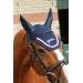 Point Sellier Fly veil - Navy & burgundy