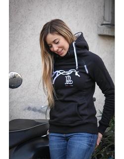 Double-zip sweater - Black