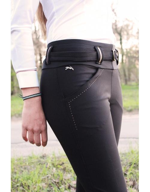 Pantalon d'équitation Rio Noir Pénélope Leprevost.