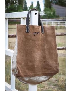 Pépite tote bag - Camel & gold