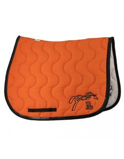 Classic point sellier saddle pad - Orange & black