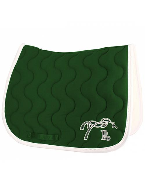 Tapis de selle Point Sellier Classique - Vert Forêt & Blanc