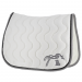 Classic point sellier saddle pad - White & grey