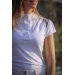Venice competition polo shirt - White & taupe