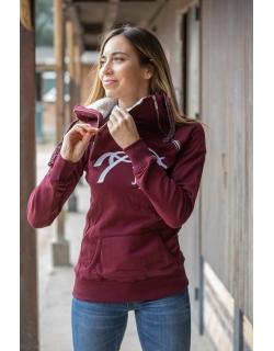 Double Zip Sweater- Plum