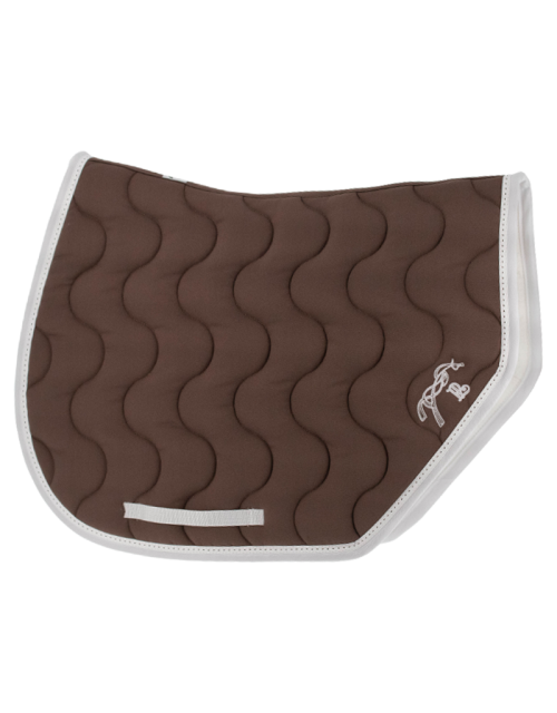 Tapis de selle point sellier sport - Taupe & blanc
