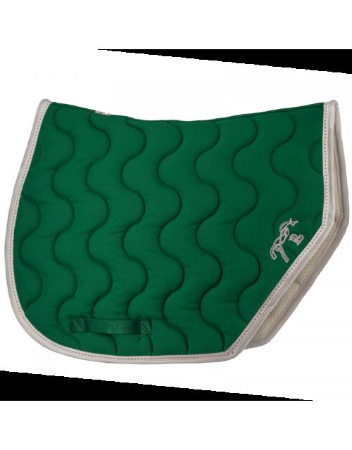 Tapis de selle Point Sellier Sport - Vert Forêt & Blanc