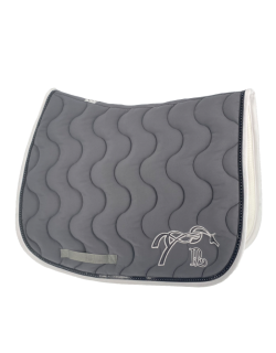 Classic point sellier saddle pad - Grey & white