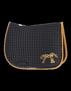 American saddle pad - Black & caramel