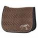 Classic velvet saddle pad - Taupe & black