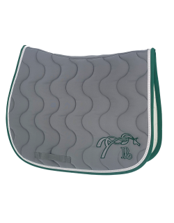 Point sellier classic saddle pad - Light grey & green