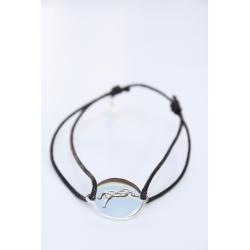 Bracelet fil & plaque