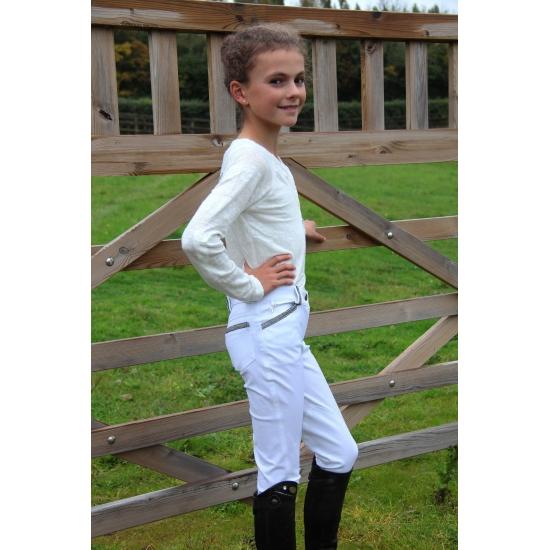 Pantalon d'équitation FUN Blanc enfant